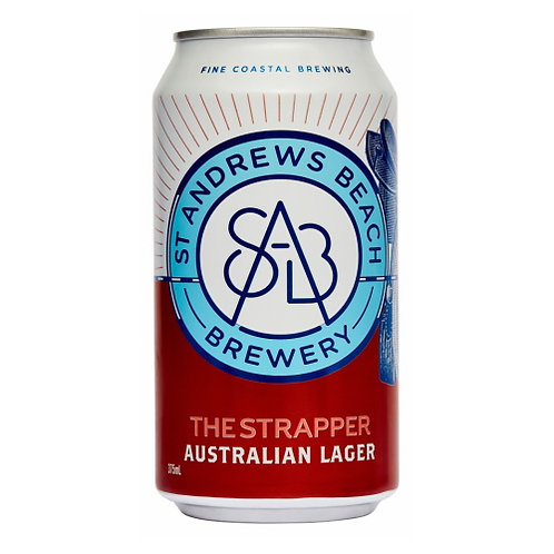 ST Andrews Beach The Strapper Australian Lager 5% Can 375mL