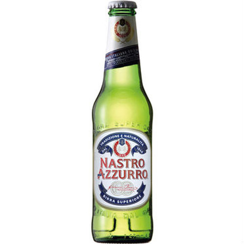 Peroni Nastro Azzurro (Fully Imported) Beer 5.1% Bt 330mL