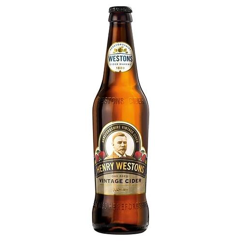 Henry Westons Oak Aged Vintage Cider 8.2% Btl 500mL