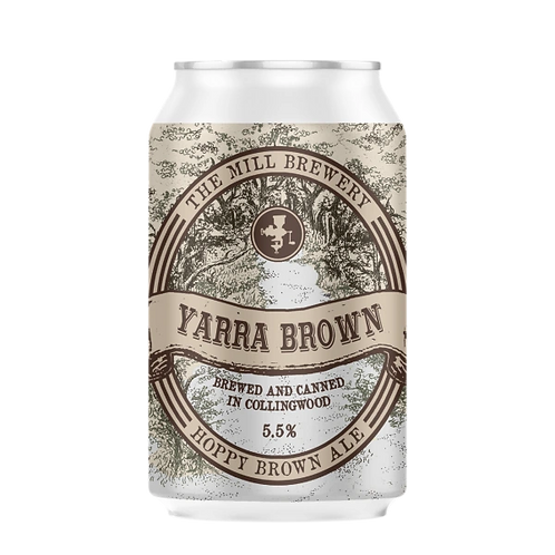 """The Mill Brewery """"Yarra Brown"""" Hoppy Brown Ale 5.5% Can 375mL"""