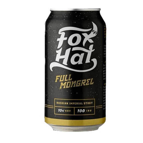 Fox Hat Full Mongrel Russian Imperial Stout 10% Can 375mL