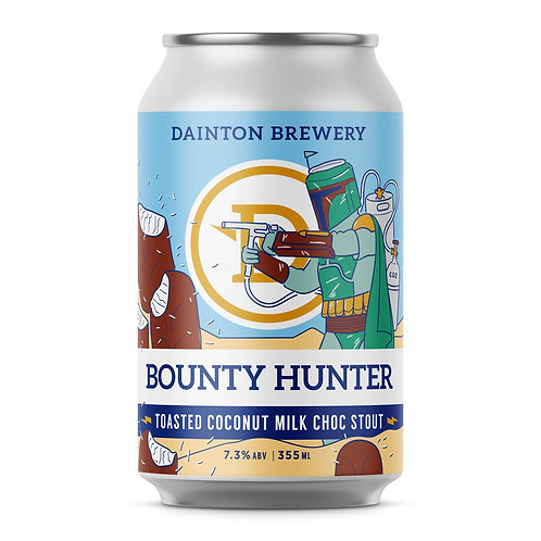 Dainton Brewery Bounty Hunter Stout Can 355mL