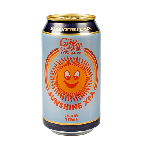 Grifter Brewing Co Sunshine XPA 4% Can 375mL