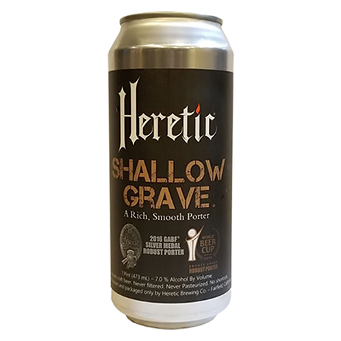 Heretic Brewery Shallow Grave Porter 7% Can 473mL