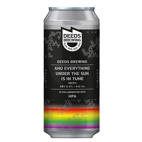 Deeds Brewing X HPA And anything under the Sun is in Tune 6.5$% Can 440mL