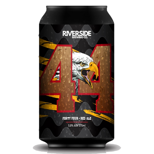 Riverside Brewing Co 44 Red Ale 5% Can 375mL