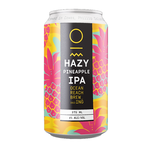 Ocean Reach Brewing Hazy Pineapple IPA 6% Can 375mL