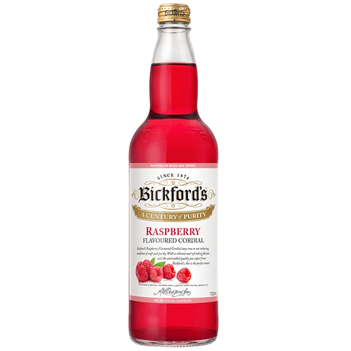Bickfords Raspberry Flavoured Cordial 750mL