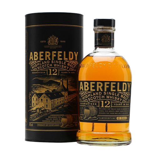Aberfeldy 12 Year Old Highland Single Malt Scotch 40% Btl 1LTL