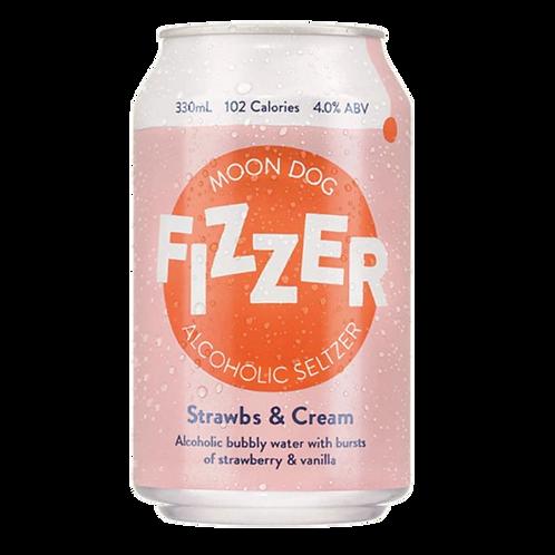 Fizzer Strawberry & Cream Seltzer 330ml 4% 330mL