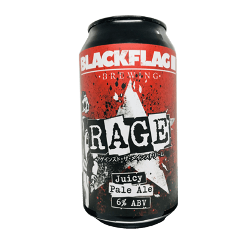 Black Flag Rage Juicy Pale Ale 6% Can 375mL