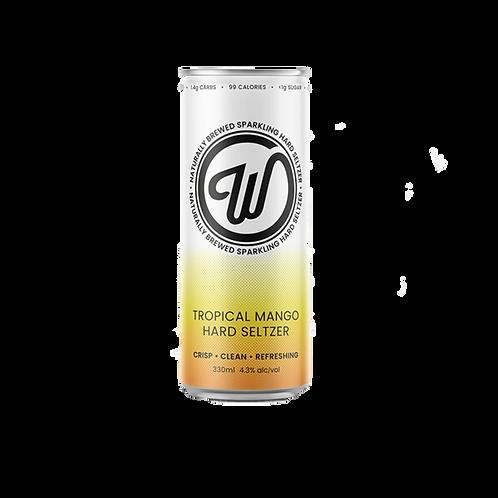 W Seltzer Tropical Mango Hard Seltzer 4.3% Can 330mL