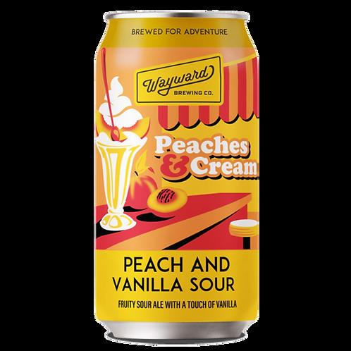 Wayward Brewing Peaches & Cream. Peach & Vanilla Sour 5.2% Can 375mL