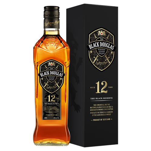 Black Douglas 12 Year Old Blended Scotch Whiskey 40% Btl 700mL