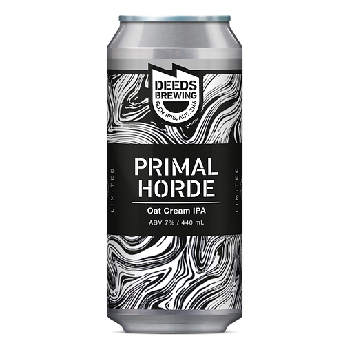 Deeds Brewing Primal Horde Oat Cream IPA 7% Can 440mL