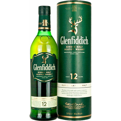 Glenfiddich 12 Year Old Single Malt Scotch Whisky Btl 750mL
