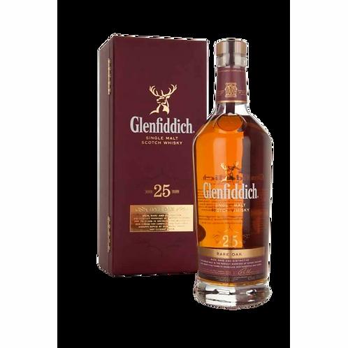 Glennfiddich 25 Year Old Single Malt Scotch Whisky 43% 700mL