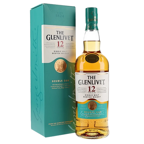 Glenlivet 12YO Single Malt Scotch Whisky Double Oak 700mL