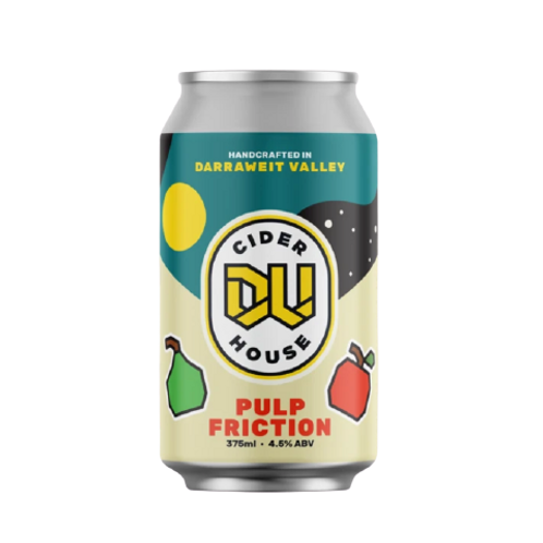 Darraweit Valley Pulp Fiction Apple & Pear Cider Can 4.5% 375mL