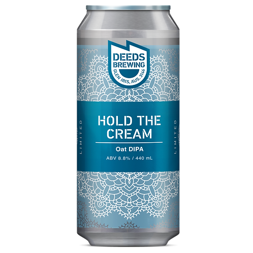 Deeds Brewing Hold the Cream, Oat DIPA 8.8% Can 440mL