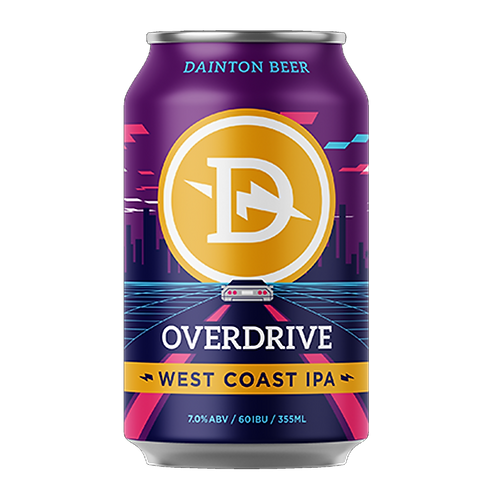 Dainton Brewery Overdrive West Coast IPA 7% Can 355mL