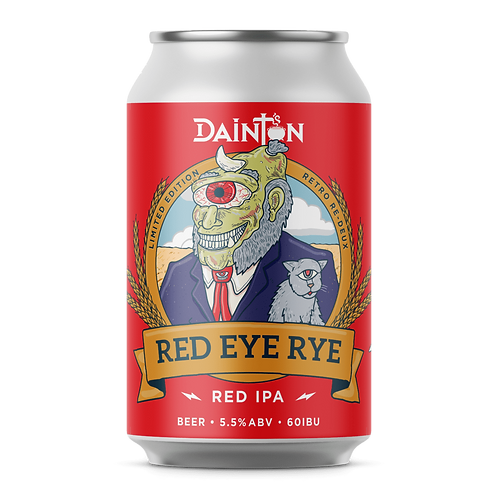 Dainton Brewery Retro Red Eye Rye 5.5% Can 3255mL