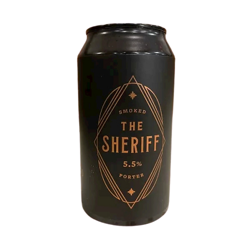 Miners Gold Brewery The Sheriff Smoked Porter 5.5% Can 375mL