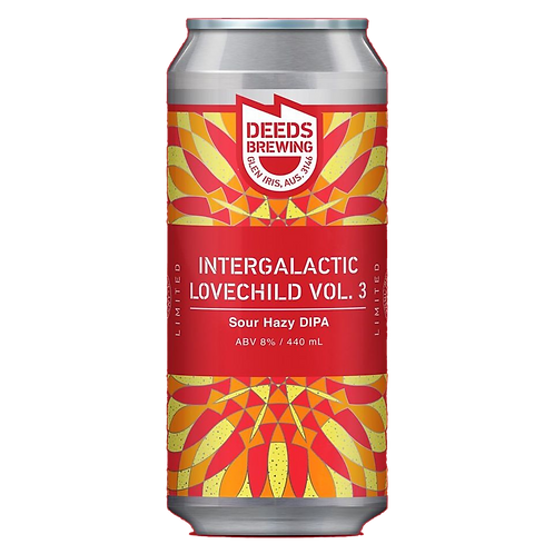 Deeds Brewing Intergalactic Lovechild Vol 3 Sour Hazy DIPA 8% Can 440mL