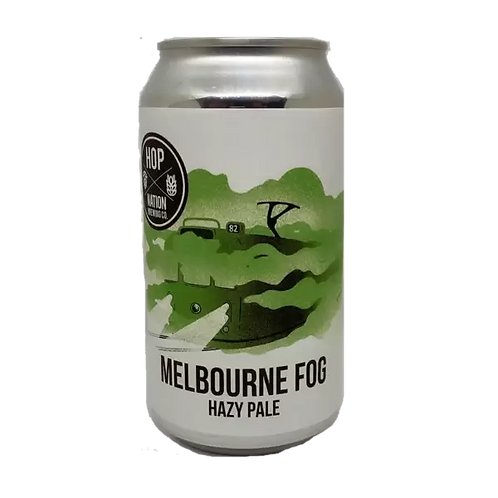 Hop Nation Melbourne Fog Hazy IPA 4.8% Can 375mL