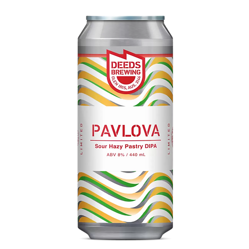 Deeds Brewing Pavlova Sour Hazy Pastry DIPA 8% Can 440mL