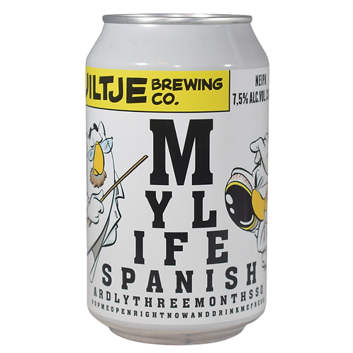 Uiltje Brewing Co My Life Spanish NEIPA 7.5% Can 330mL