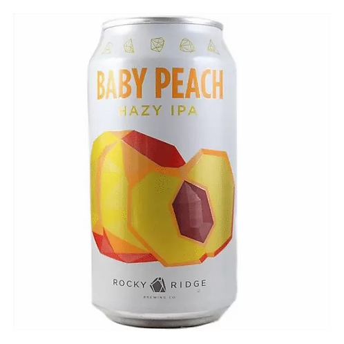 Rocky Ridge Baby Peach Hazy Ipa 4% Can 375mL