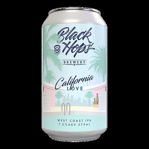 Black Hops Brewery California Love West Coast IPA 7.2% Can 375mL