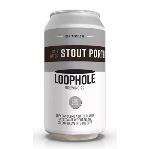 Loophole Brewing Co Salt Water Stout Porter 6.5% Can 375mL