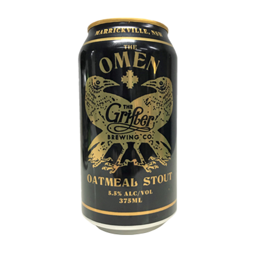Grifter Brewing Co The Omen Oatmeal Stout 5.5% Can 375mL