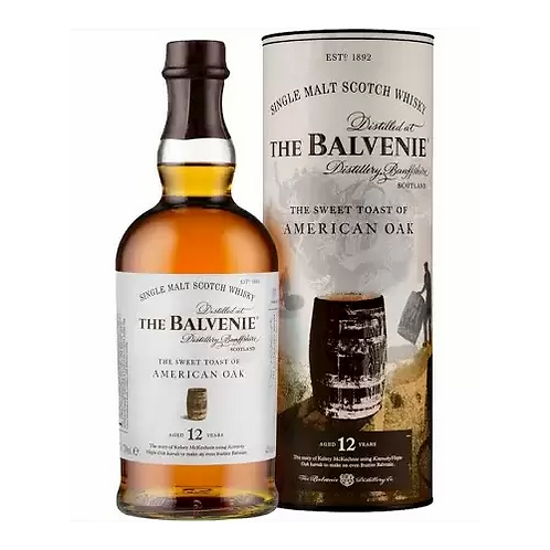 Balvenie American Oak 12 Year Old Single Malt Whisky 700mL