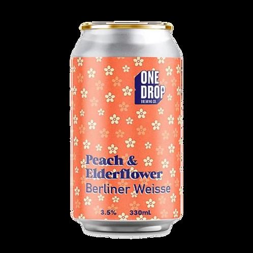 One Drop Weisse Peach & Elderflower Berliner 3.5% Can 330mL
