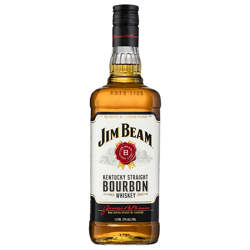 Jim Beam White Label Kentucky Straight Bourbon Whiskey Btl 700mL