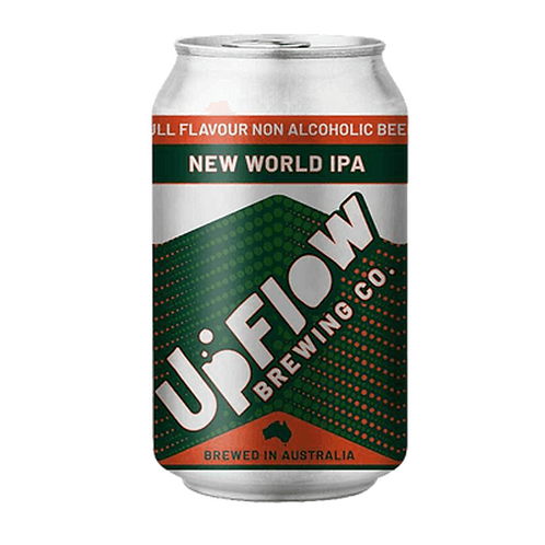 Upflow Brewing Co New World IPA Alcohol Free 375mL