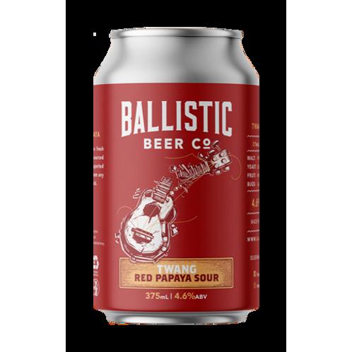 Ballistic Beer Co Twang Red Papaya Sour 4.6% Can 375mL