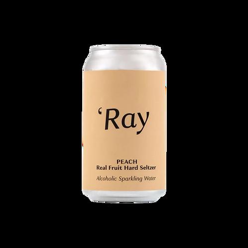 """Hop Nation """"RAY"""" Peach Hard Seltzer 4.5% Can 375mL"""