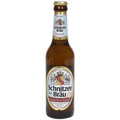 Schnitzel Brau German Hirse Premium Beer 5% Btl 330mL