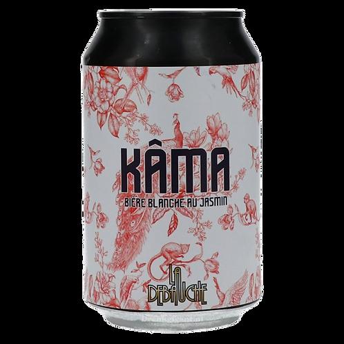 La Debauche Kama Blanche Bier with Jasmin 5% Can 330mLDe