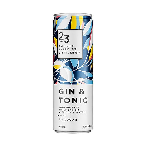 23rd Street Gin & Tonic (Sugar Free) 5.5% Cans 300mL