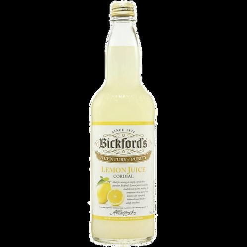 Bickfords Lemon Cordial Btl 750mL