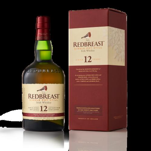 Redbreast 12 Year Old Single Pot Irish Whisky 40% Btl 700mL