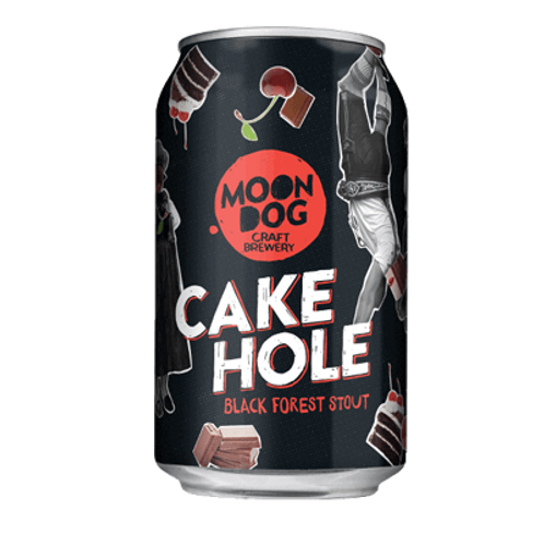 Moon Dog Cake Hole Black Forest Stout 6.5% Can 330mL