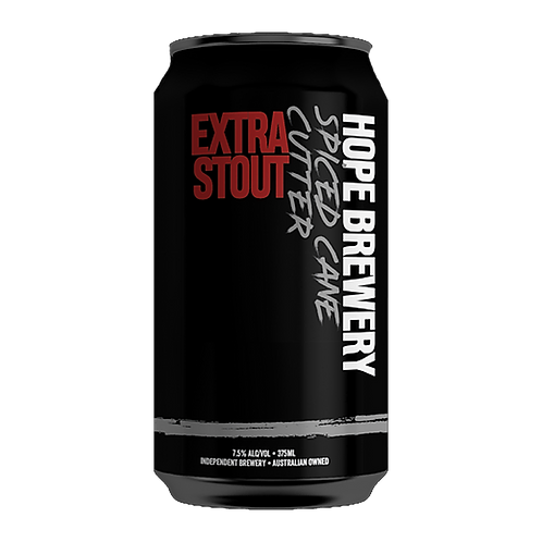 Hope Brewery Spiced Cane Cutter Extra Stout 7.5% Can 375mL