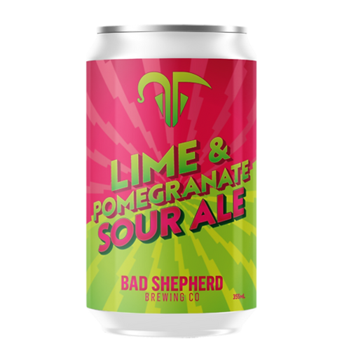 Bad Shepherd Lime & Pomegranate Sour Ale 4% Can 355mL