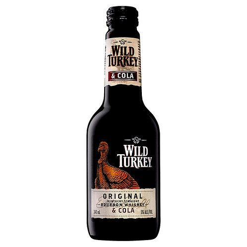 Wild Turkey Original Bourbon & Cola 4.8% Btl 340mL
